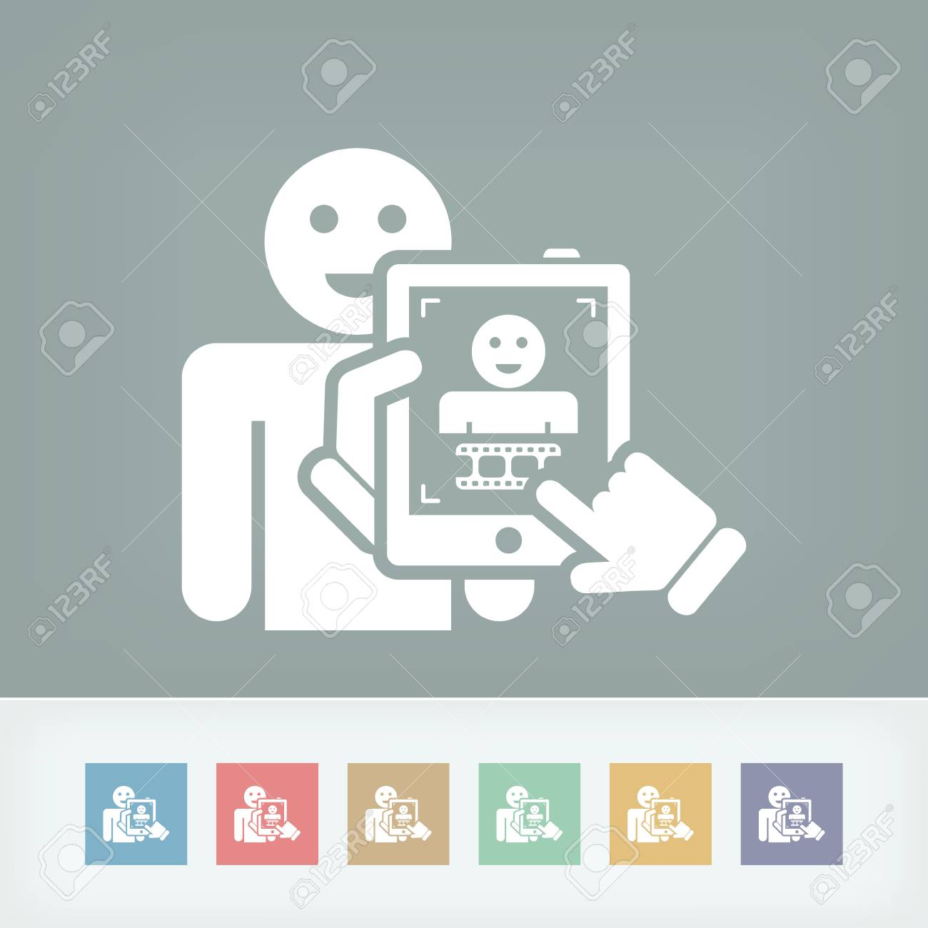 Digital video tablet concept Stock Vector - 27148867