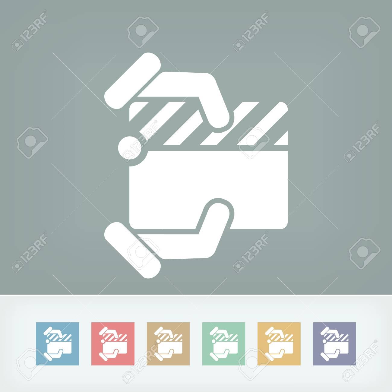 Clapboard concept icon Stock Vector - 27149064