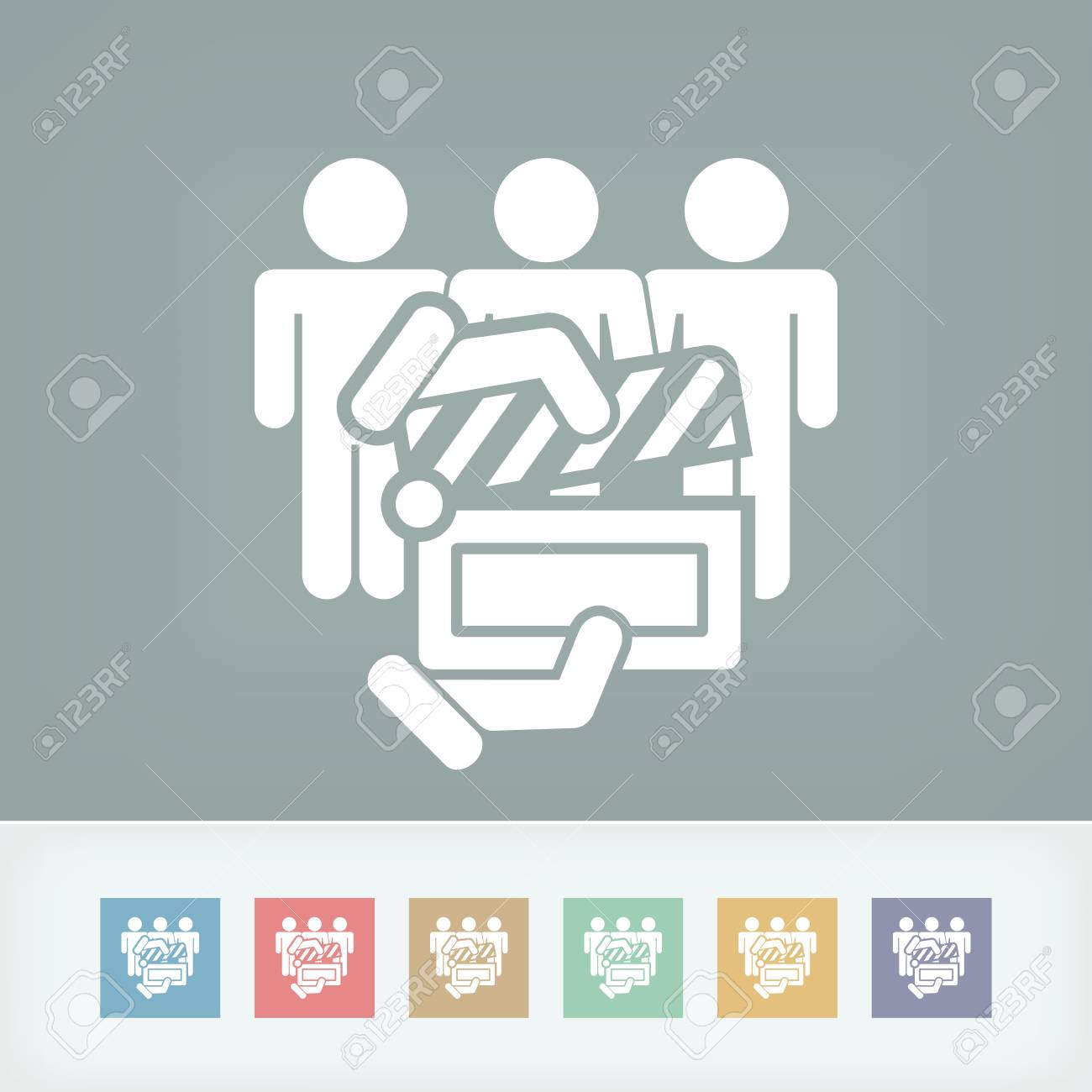 Clapboard actors icon Stock Vector - 27149356