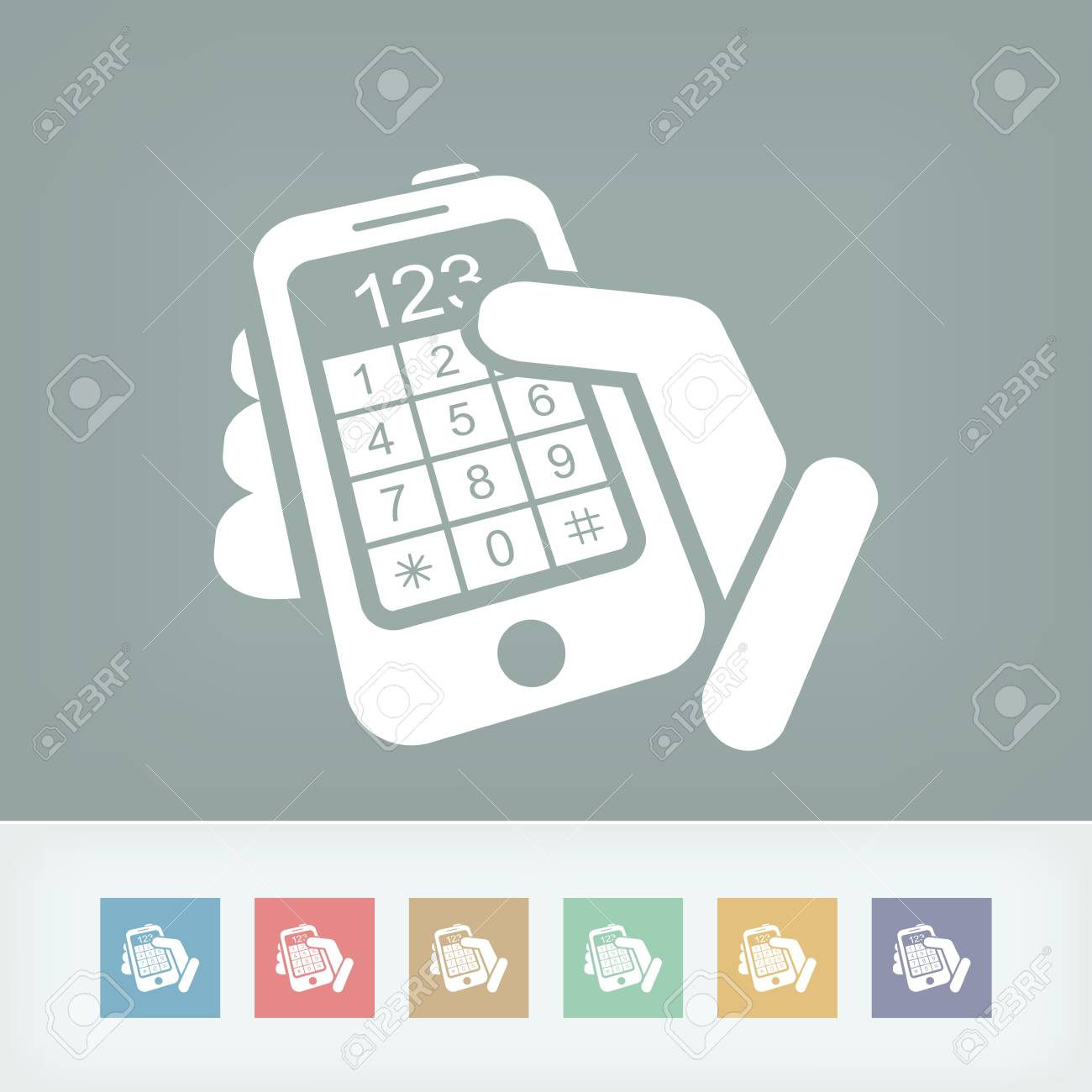 Touchscreen button numbers Stock Vector - 27149437