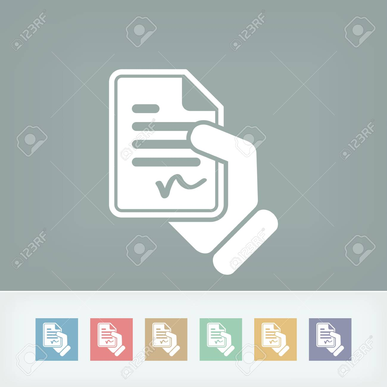 Document signed icon Stock Vector - 27149780
