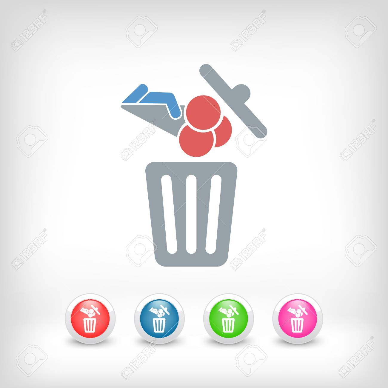 Food trash icon Stock Vector - 27151097