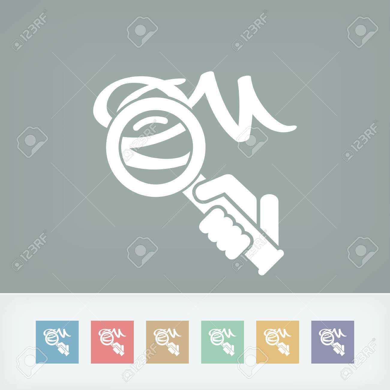 Verification of calligraphy icon Stock Vector - 27151885