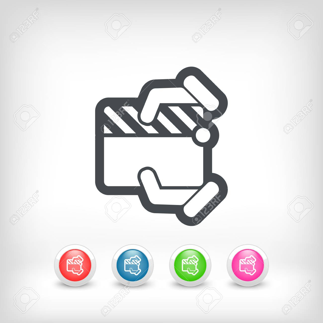 Clapboard concept icon Stock Vector - 28202163