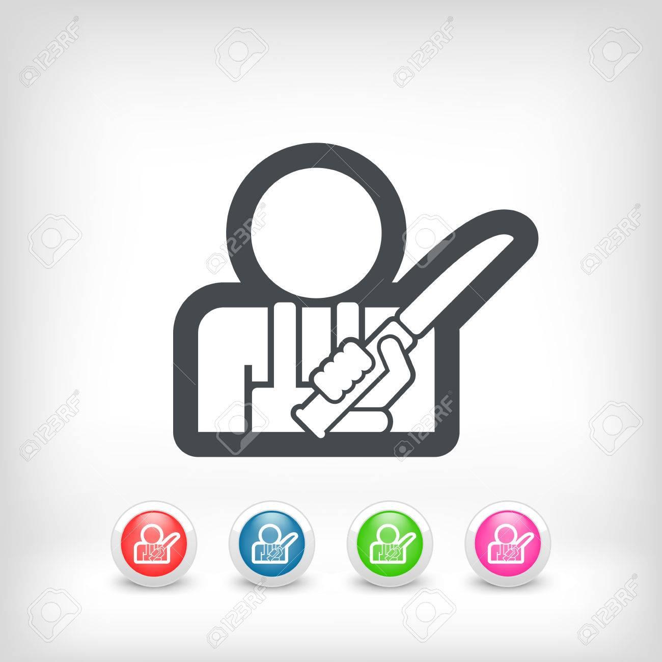 Butcher icon Stock Vector - 28214255