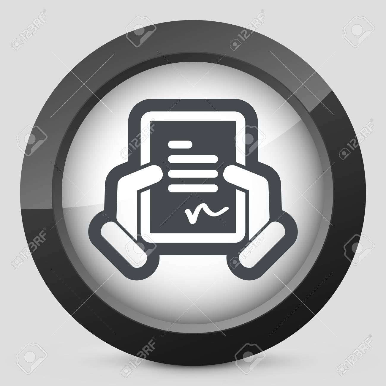 Document signature icon Stock Vector - 28218254