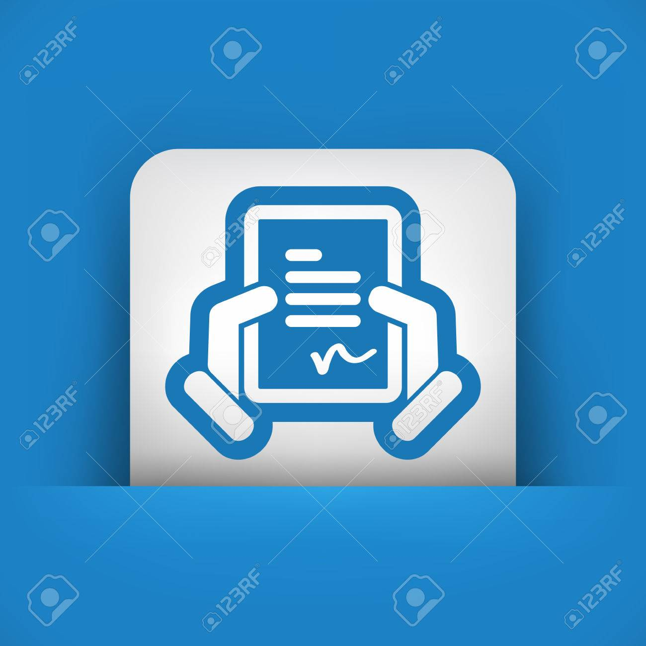 Document signature icon Stock Vector - 28281269