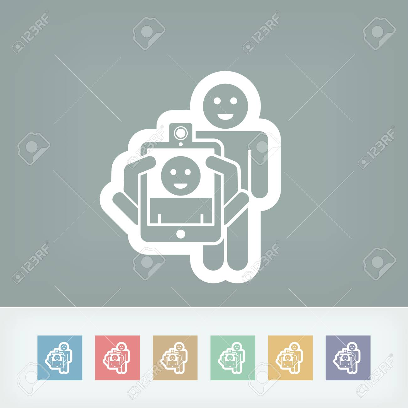Photo digital portrait shoot Stock Vector - 28332048