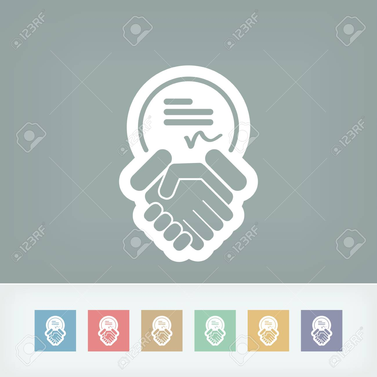 Sign on agreement document Stock Vector - 28337223