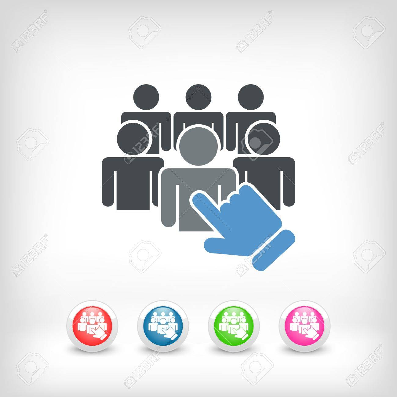 Staff selection icon - 36641698