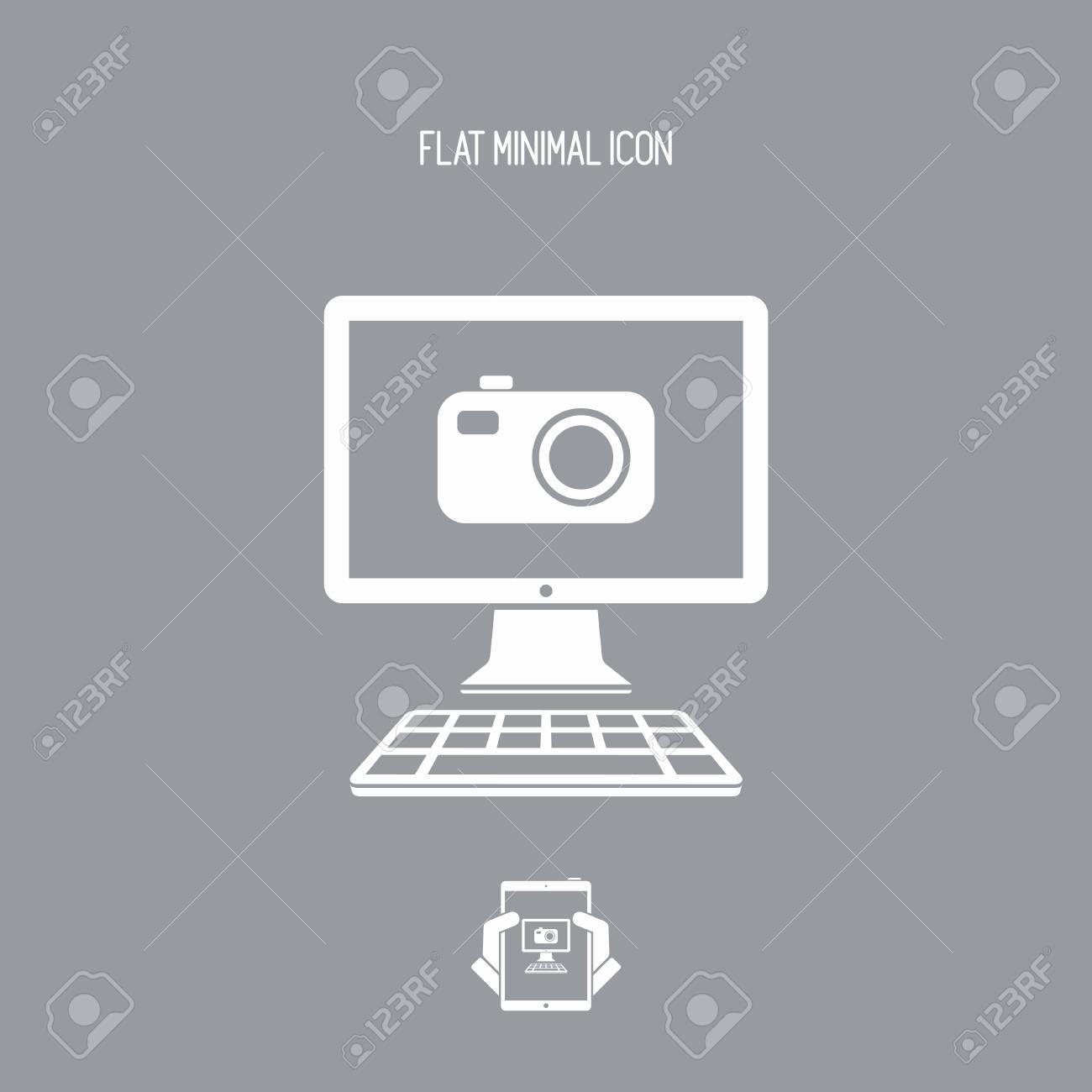 Digital camera - Vector flat icon - 74611454
