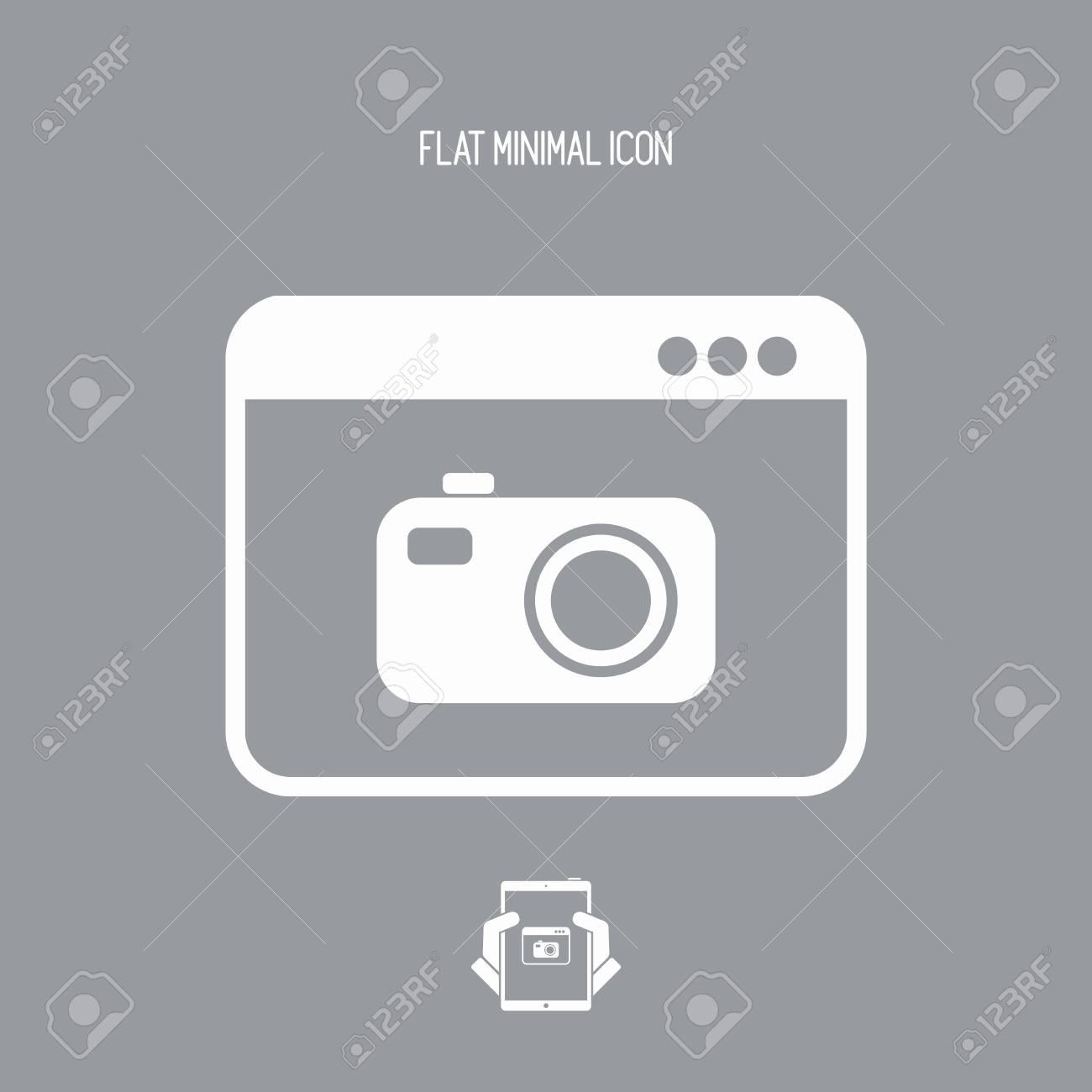 Digital camera - Vector flat icon - 74612744