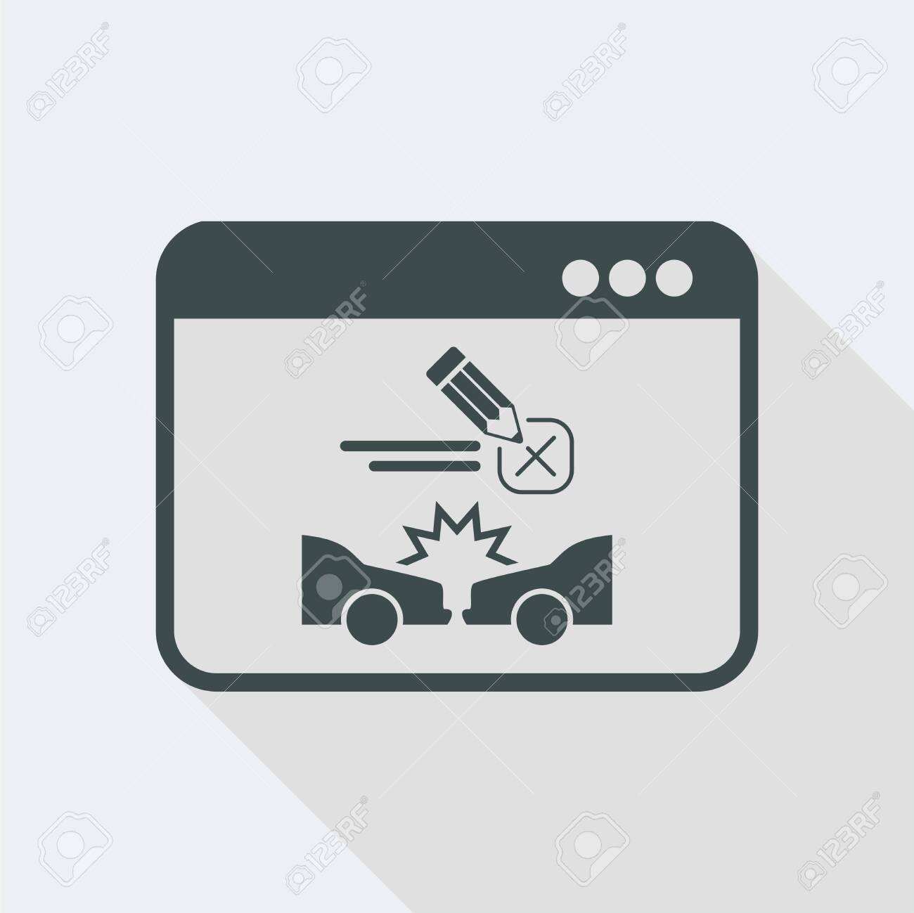 Flat and isolated vector illustration icon with minimal modern design and long shadow - 119750528