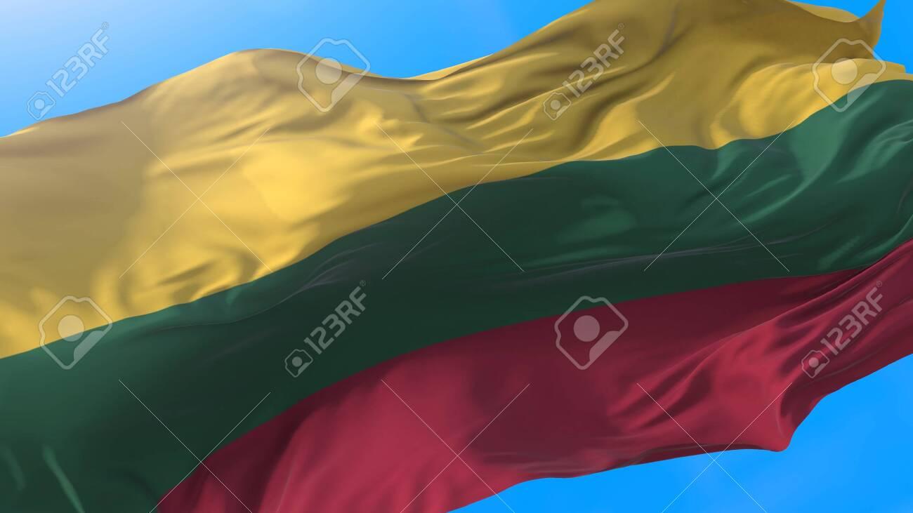 Lithuania waving flag. Lithuanian background. - 146130959
