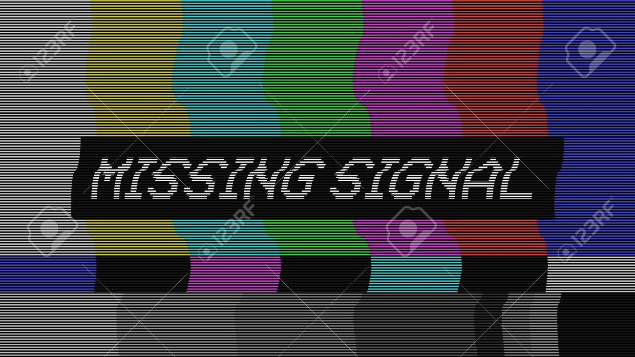 Vintage VHS (Video Home System) defects noise and artifacts effect. Glitches error from an old tape or old TV. No signal tv. Glitch effect. - 146787765