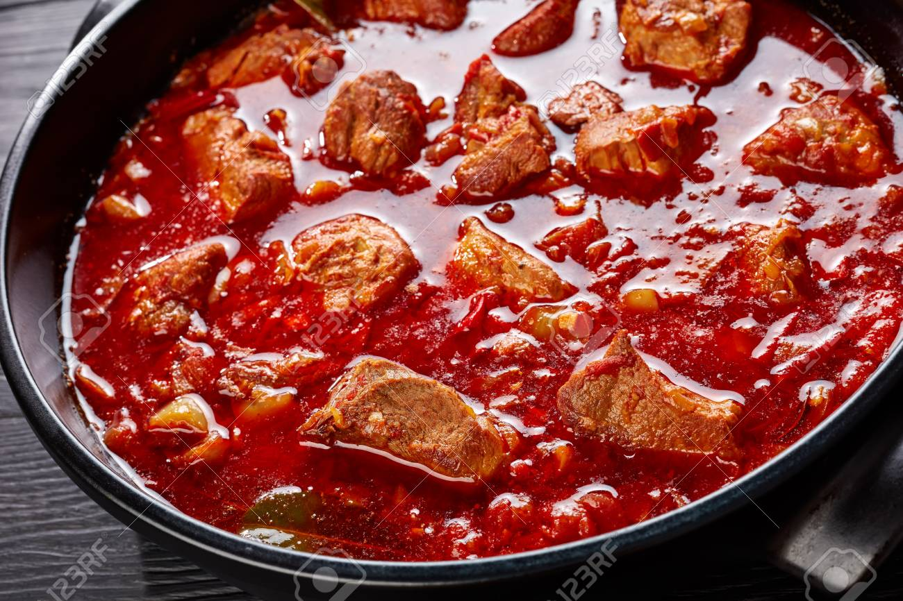 Close-up Of Hearty Red Chile A...