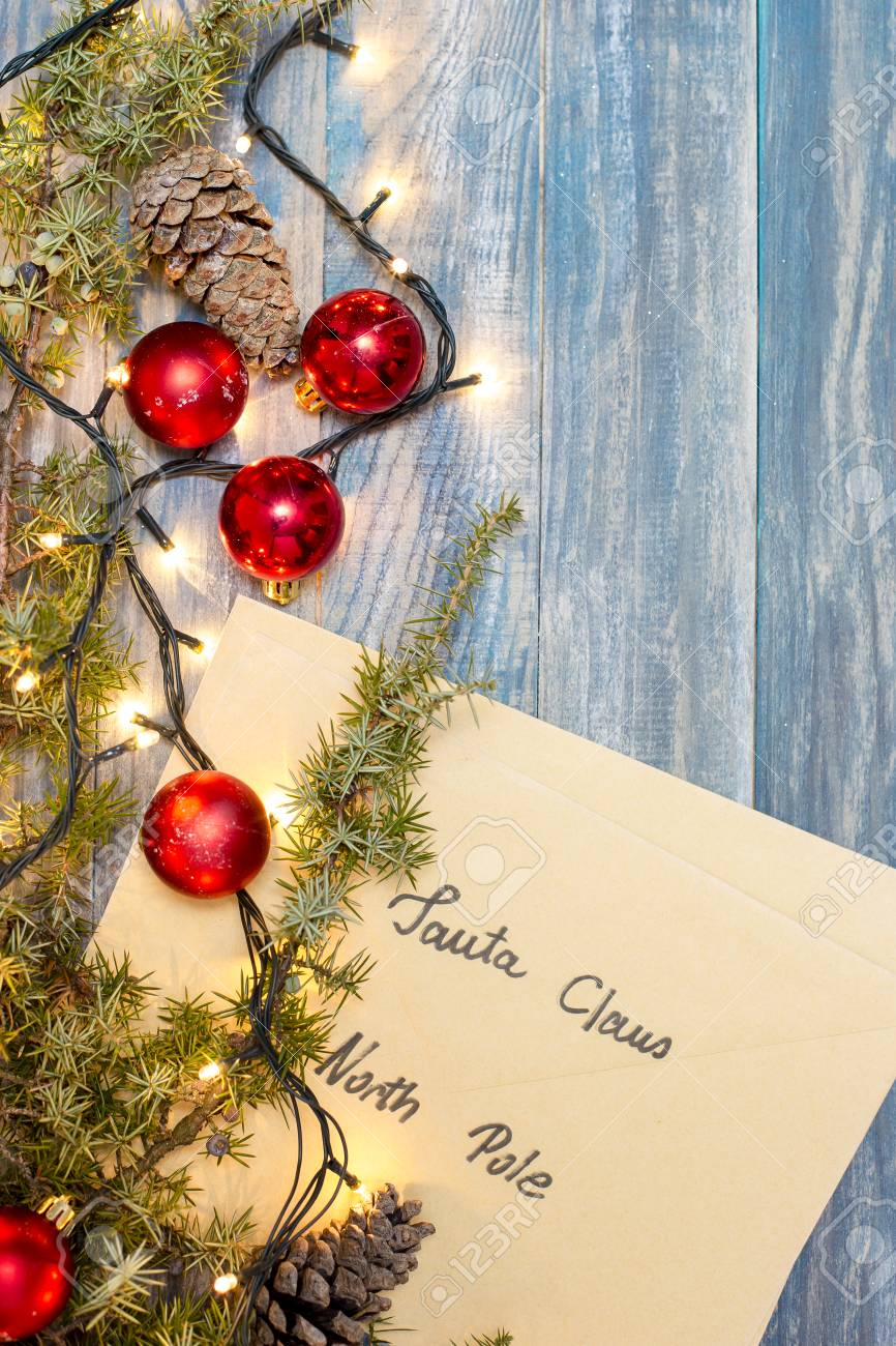 Christmas Background, Dear Santa, North Pole Stock Photo, Picture ...