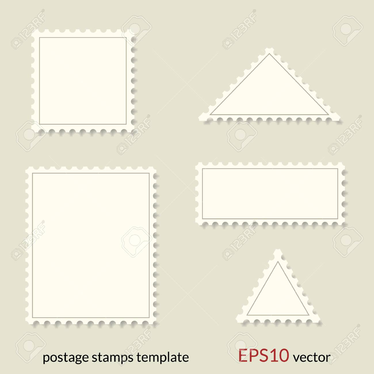 postage stamp template royalty free cliparts vectors and stock