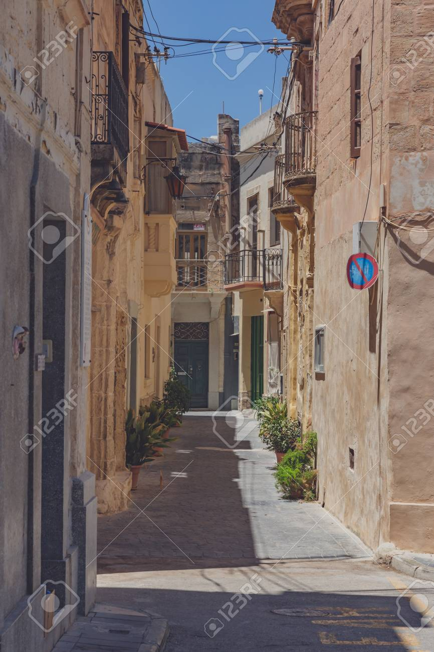View of empty streets and architecture in Rabat, Malta - 120630393