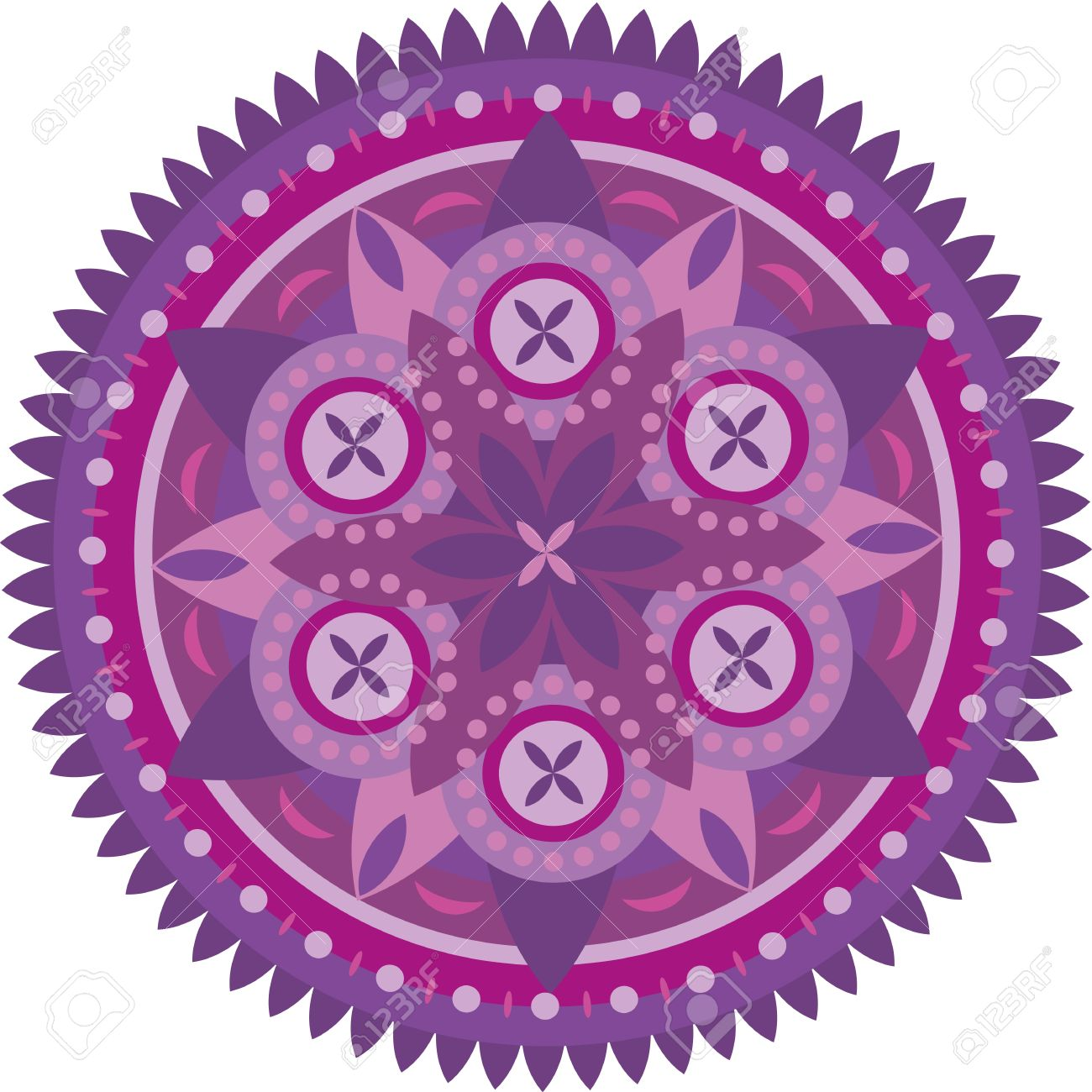 Purple circle of the mandala with ornament Stock Vector - 13194081