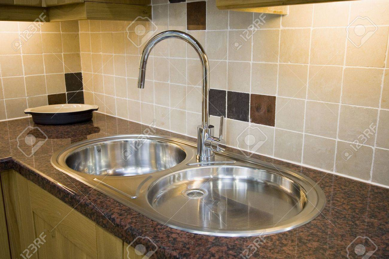 A Modern Stainless Sink Double Sink Stock Photo Picture And Royalty Free Image Image 744971