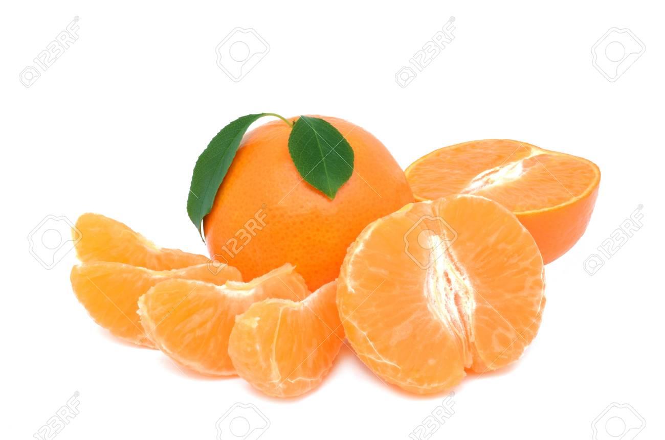 Tangerine on a white background Stock Photo - 14367748