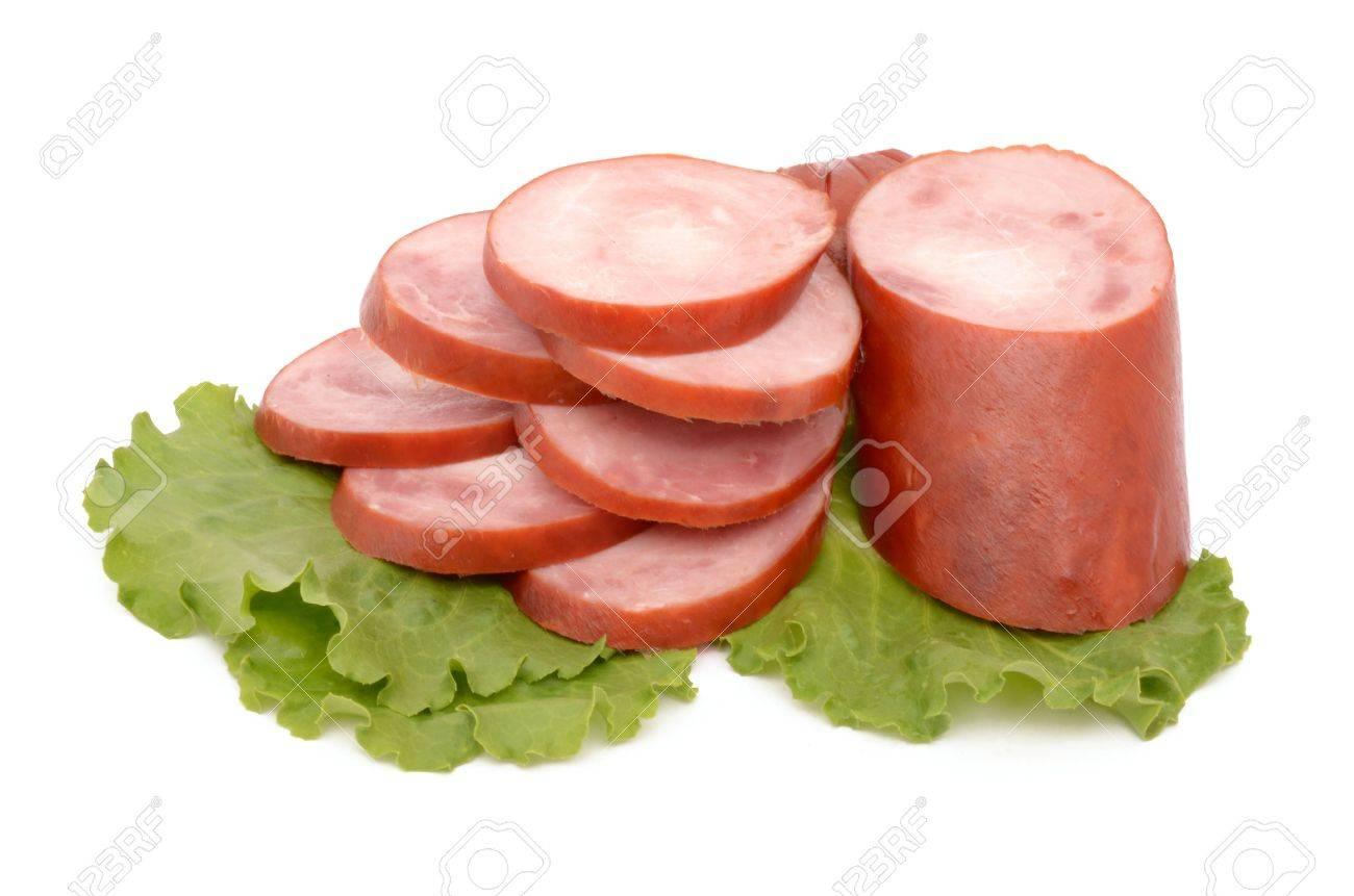 Sausage on a white background Stock Photo - 20407750