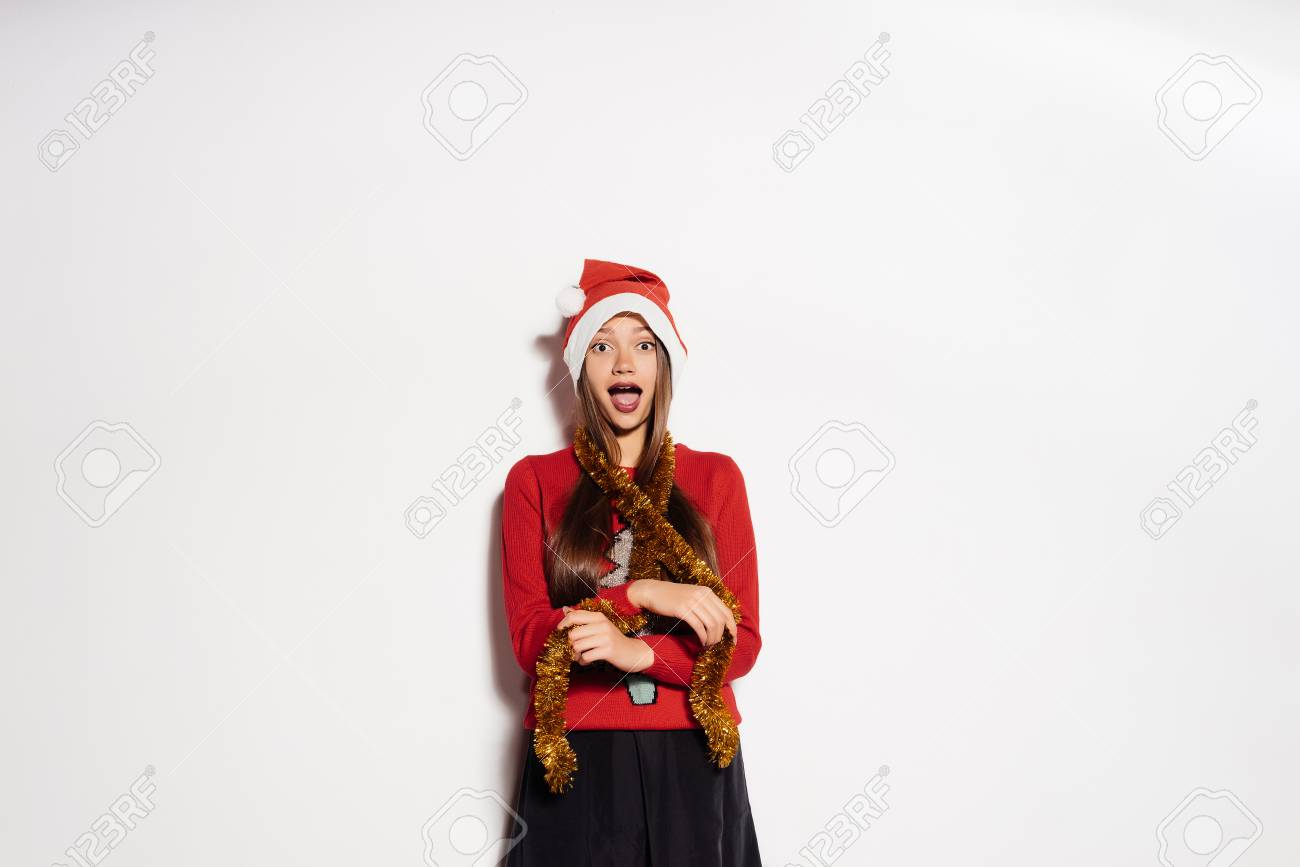 New Years Holidays Santa Claus Hat New Years Mood Christmas Beautiful Festive