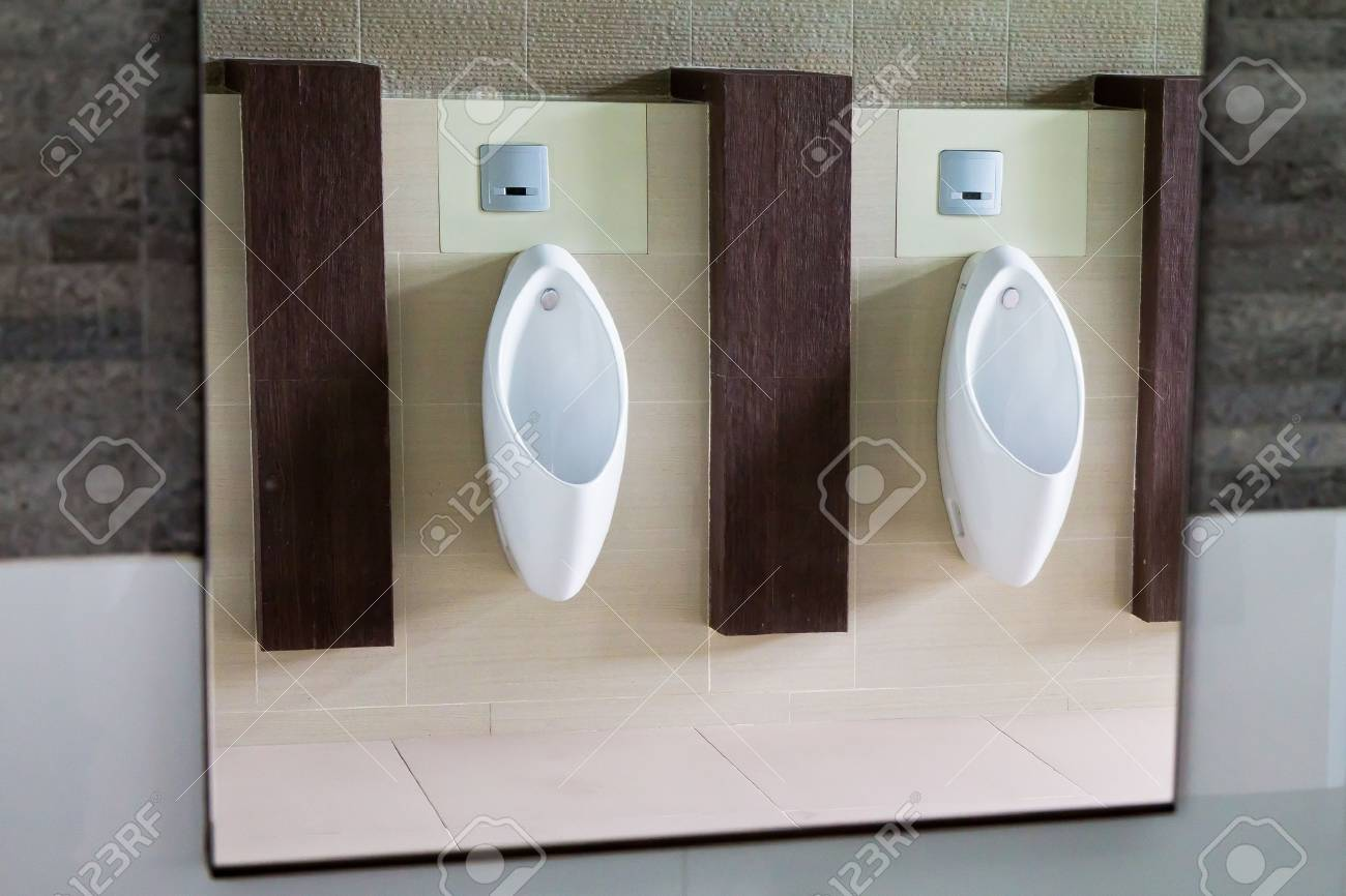 Bathroom Urinal urinals in the men's bathroom. stock photo, picture and royalty