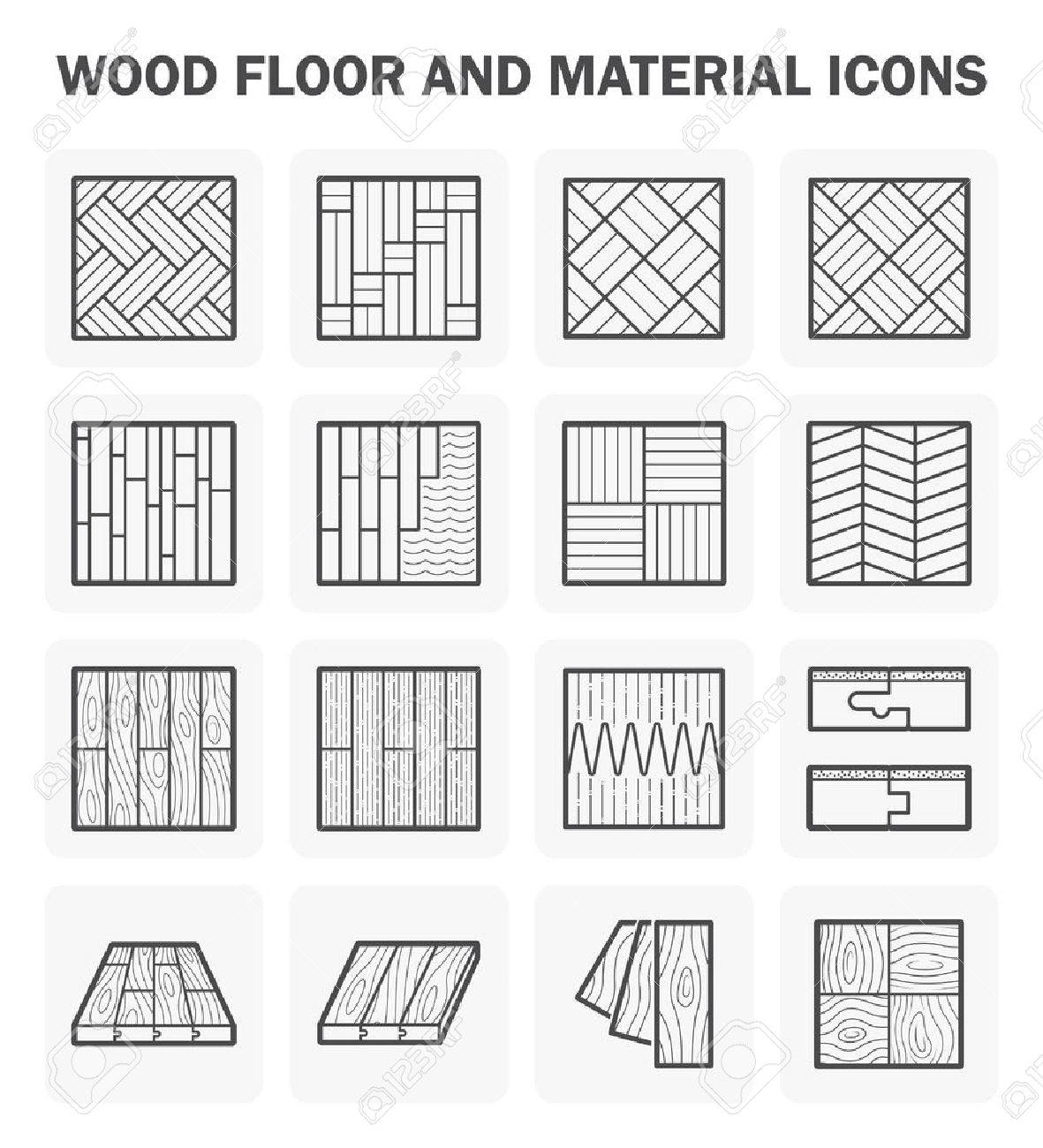 Wood floor and material icon sets design. - 51068154