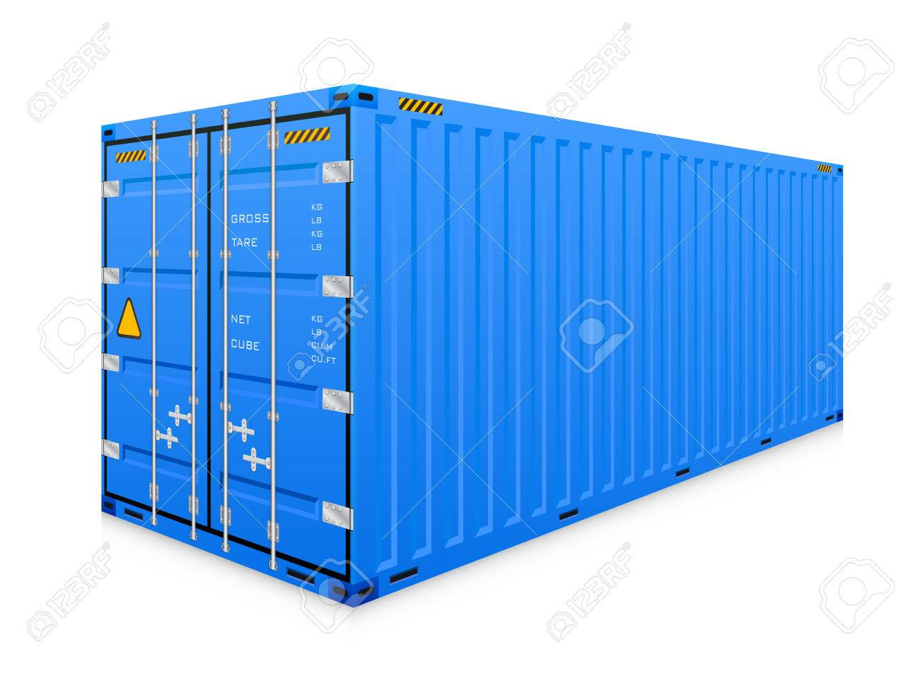 cargo container isolated on white background. - 54302778