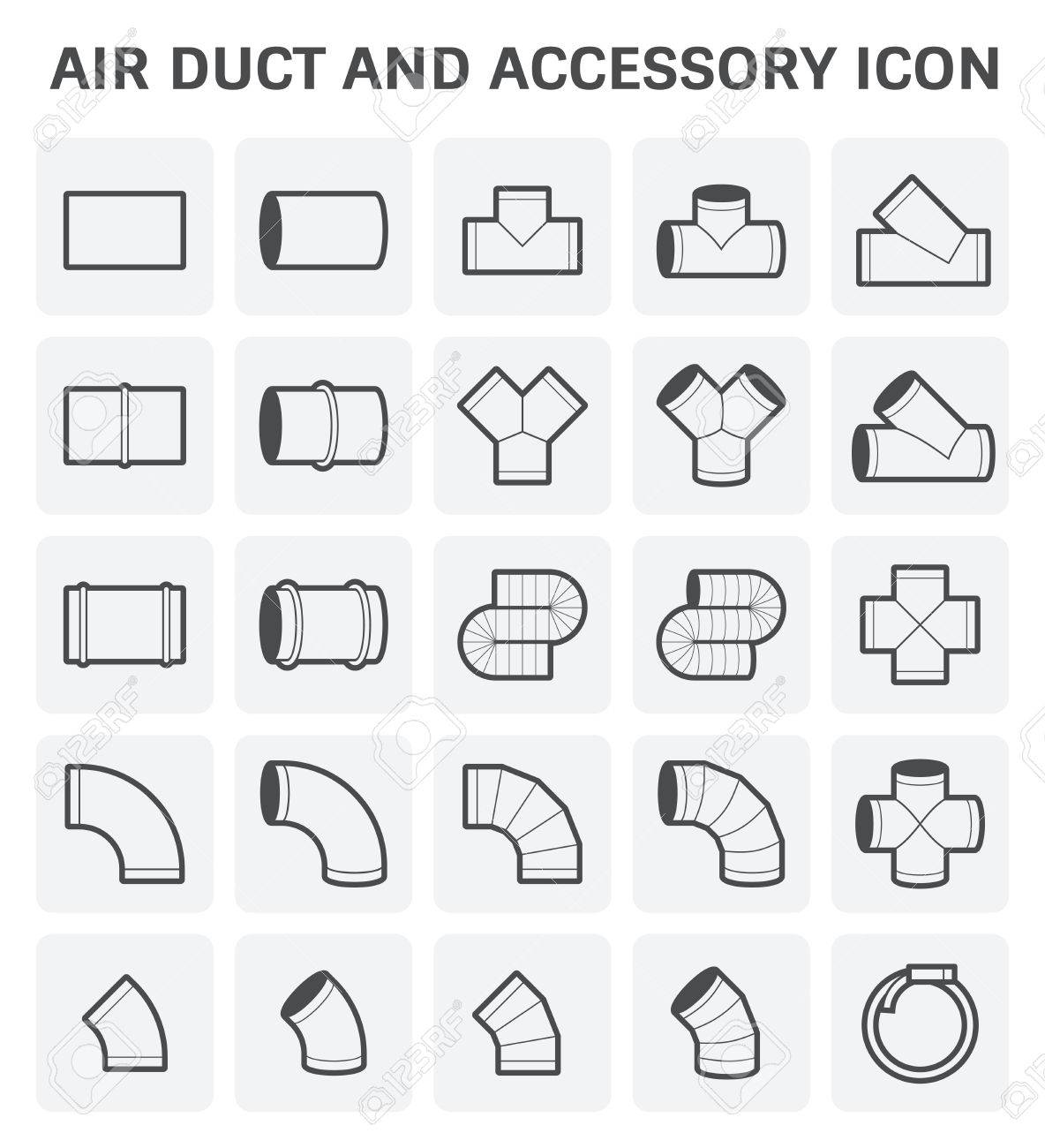 Icon of air duct and accessory for air conditioning or hvac system icon of air duct and accessory for air conditioning or hvac system stock vector buycottarizona Image collections