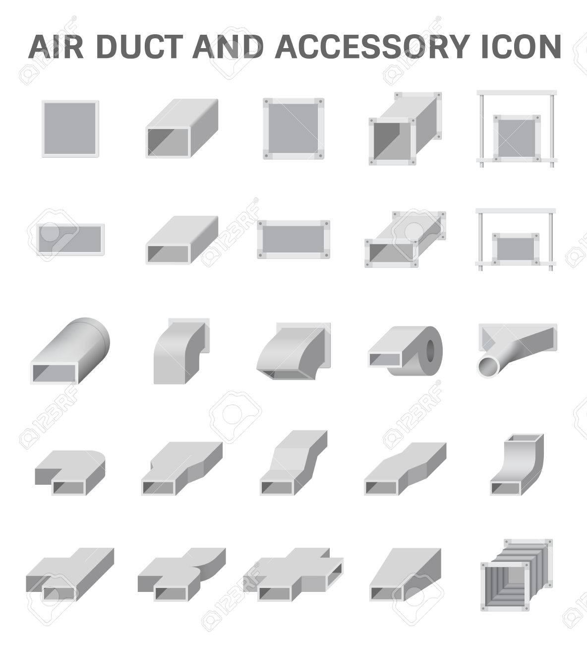 Symbol Der Luftkanal Und Zubehör Für Die Klimaanlage Oder HVAC ...