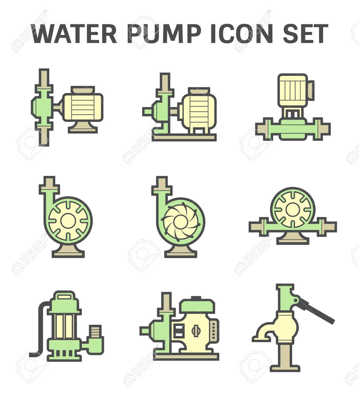 Water pump vector icon set isolated on white background royalty vector water pump vector icon set isolated on white background ccuart Image collections