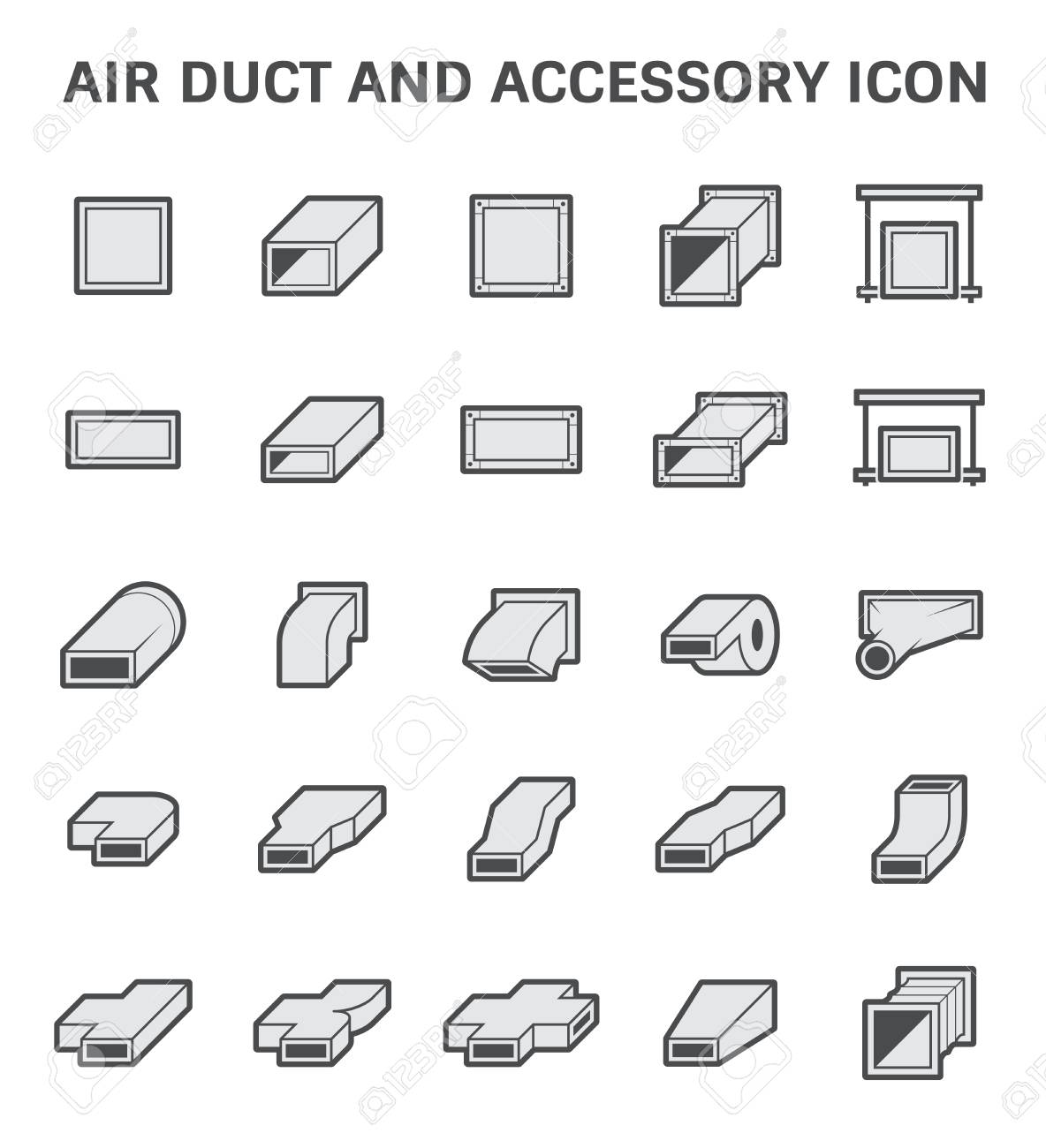 Vector icon of air duct and accessory for air conditioning or vector icon of air duct and accessory for air conditioning or hvac system stock vector buycottarizona Image collections