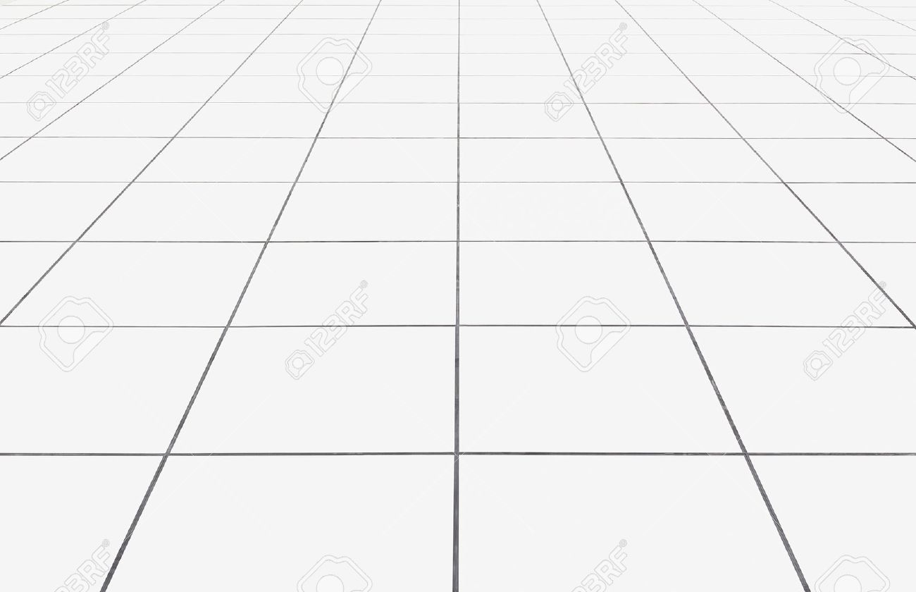 White tile floor clean condition with geometric line for background. - 70200053