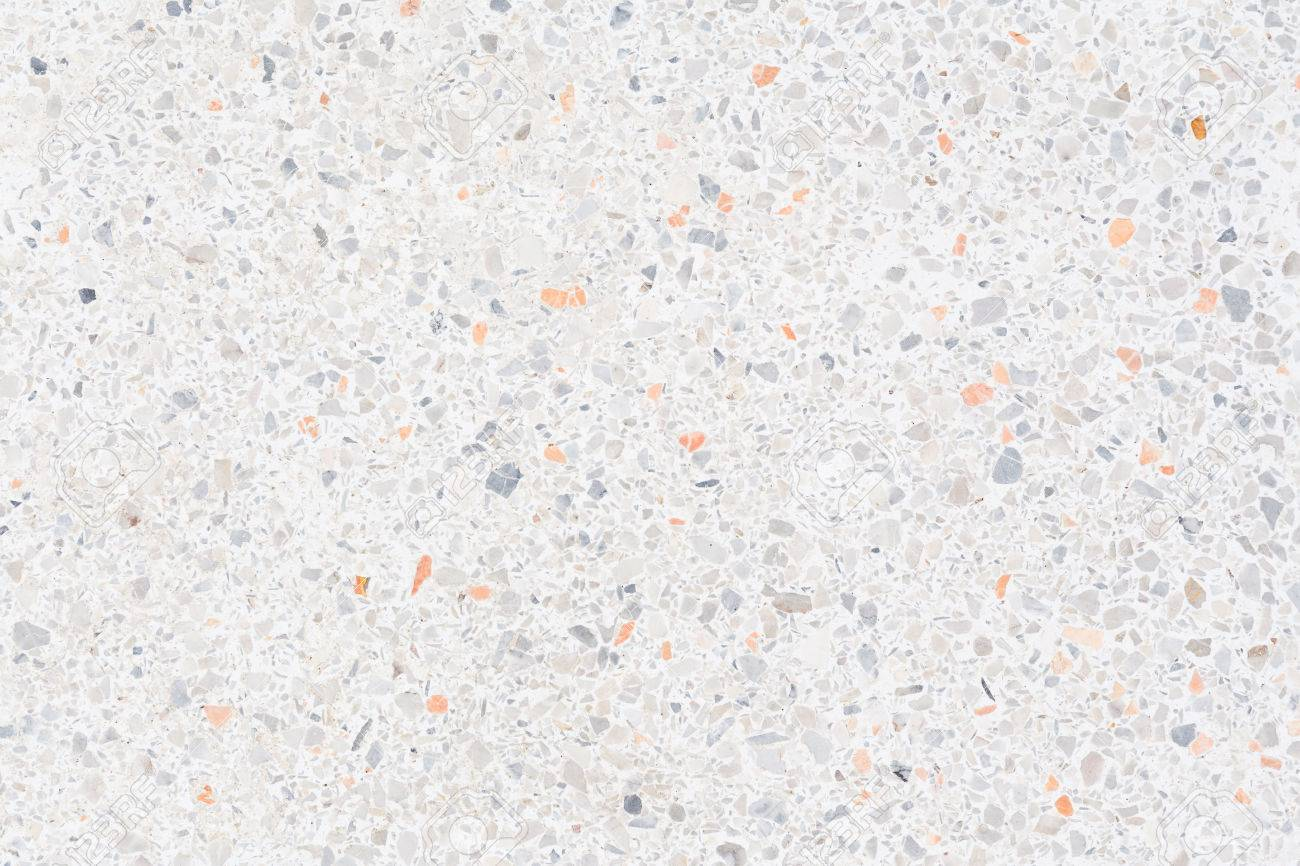 White Texture And Surface Of Terrazzo Floor For Background Stock