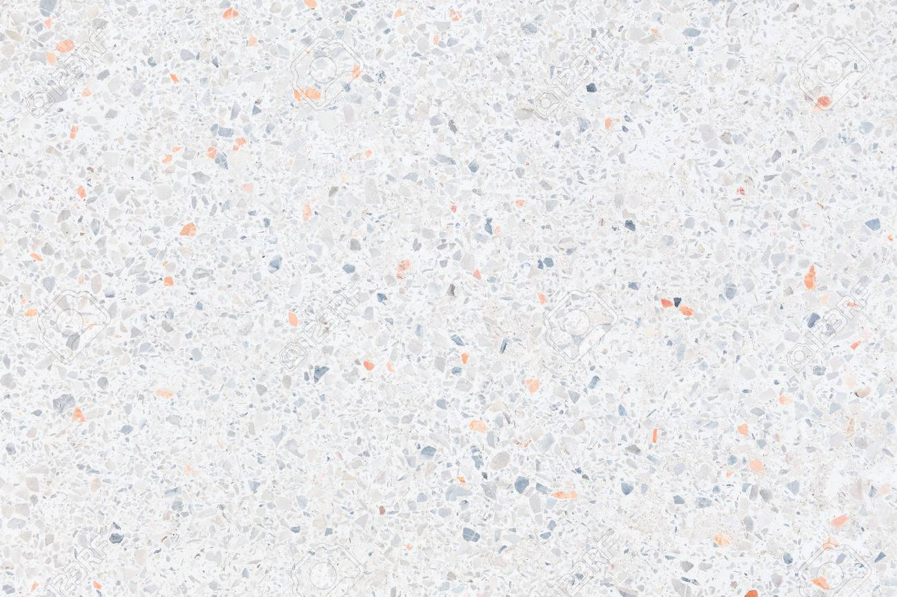 White texture and surface of terrazzo floor for background. - 75561888