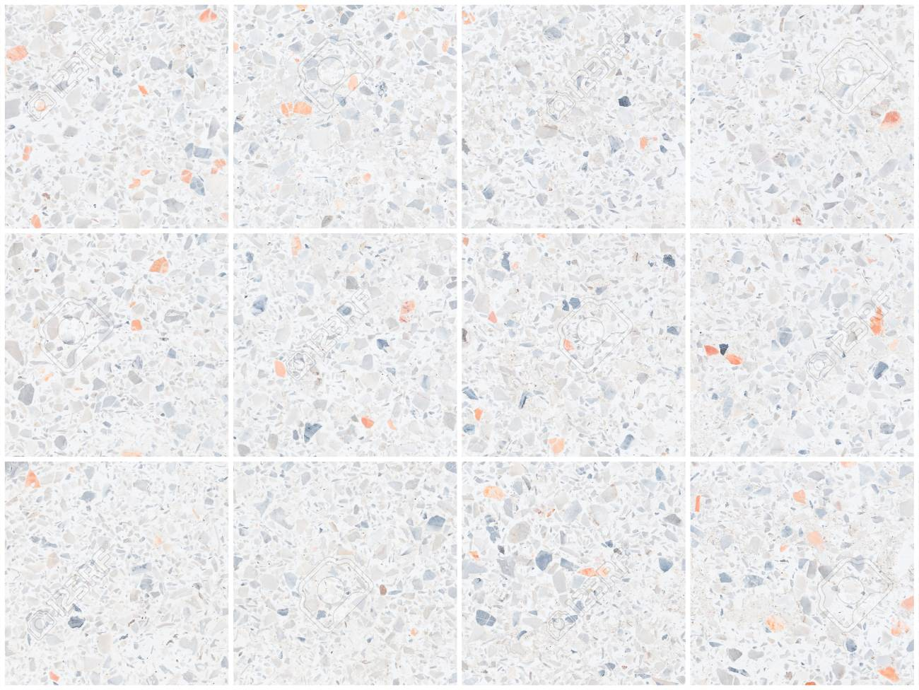 White texture and surface of terrazzo floor for background