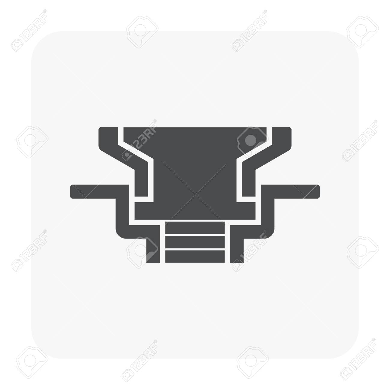 Floor Drain And Drainage Equipment Icon On White Background Royalty