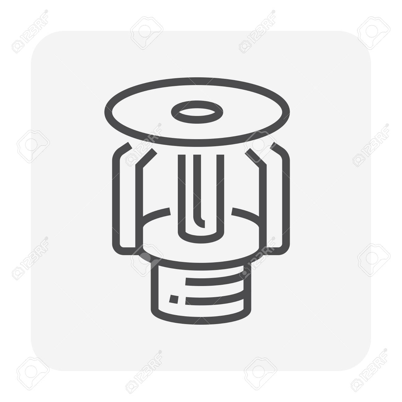 Fire sprinkler device icon, 64x64 pixel and editable stroke