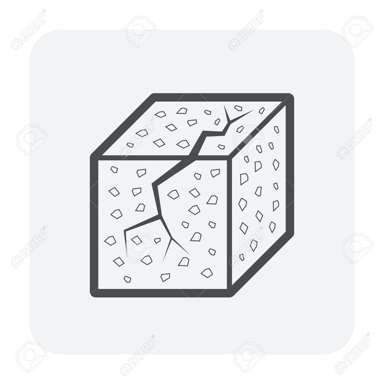 Concrete strength testing icon, outline and black color. - 111589358