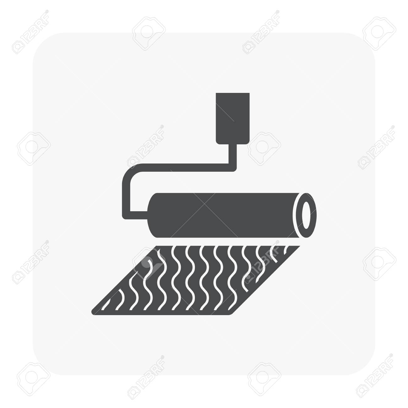 Waterproof and equipment icon on white. - 107413828