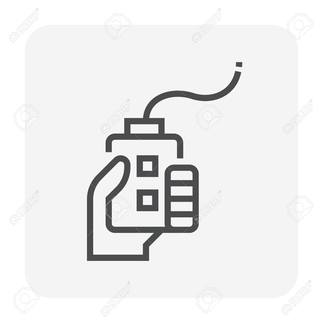 Machine remote control icon design, 64x64 perfect pixel and editable