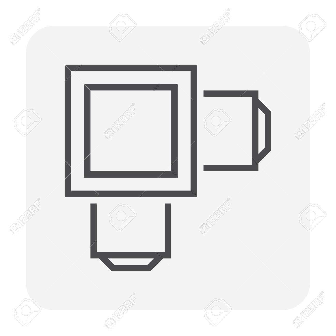 Sewer pipe icon, 64x64 perfect pixel and editable stroke