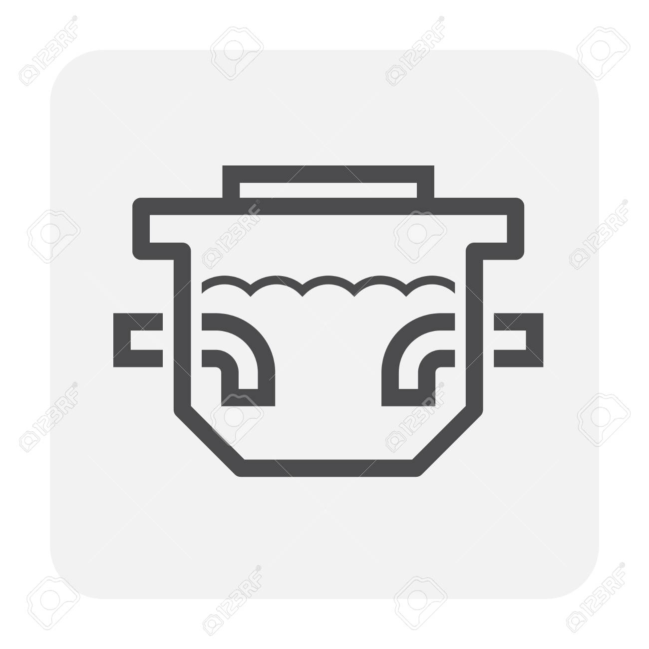 septic tank icon design black and outline royalty free cliparts vectors and stock illustration image 111184662 septic tank icon design black and outline