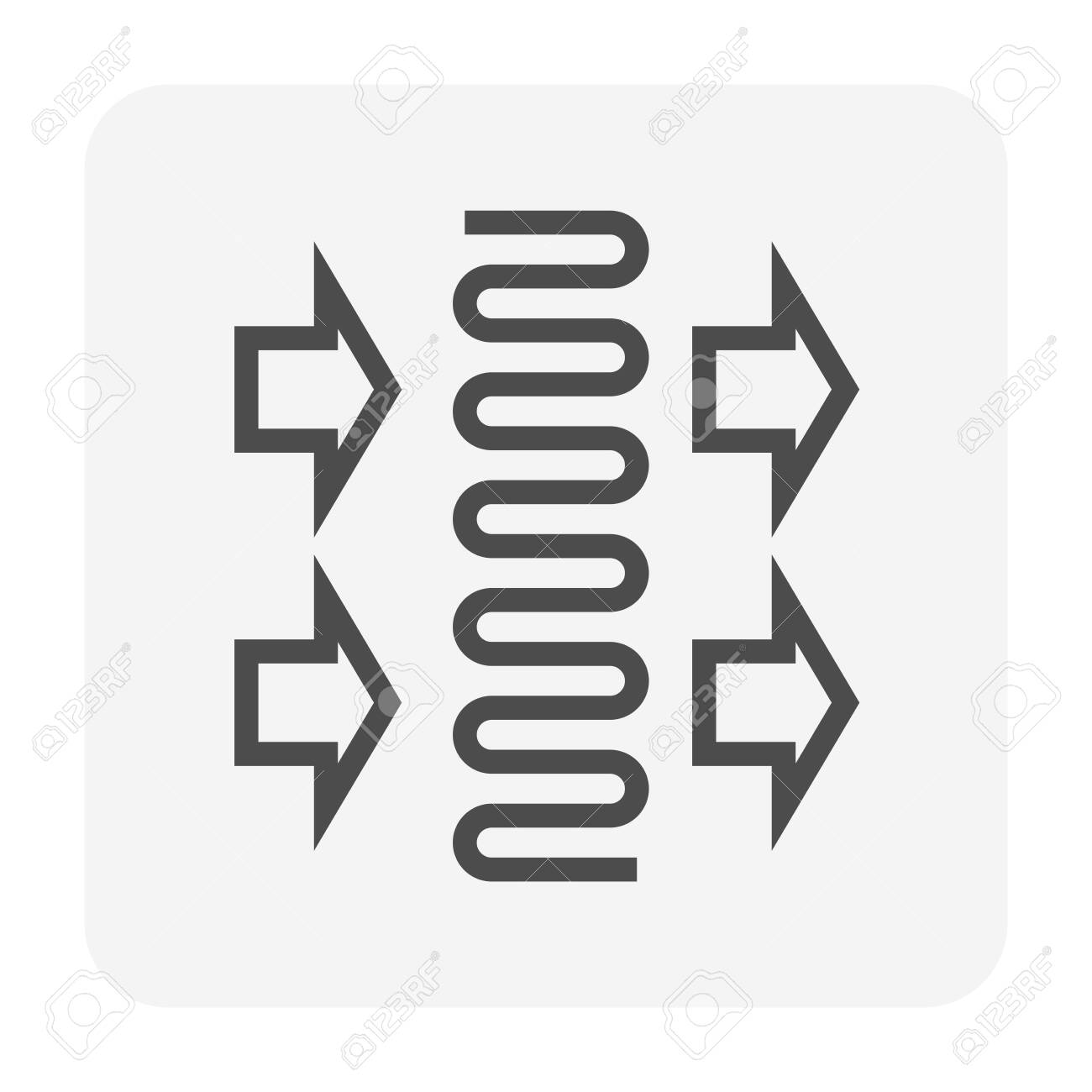 Air conditioner coil part icon design, editable stroke. - 142739366