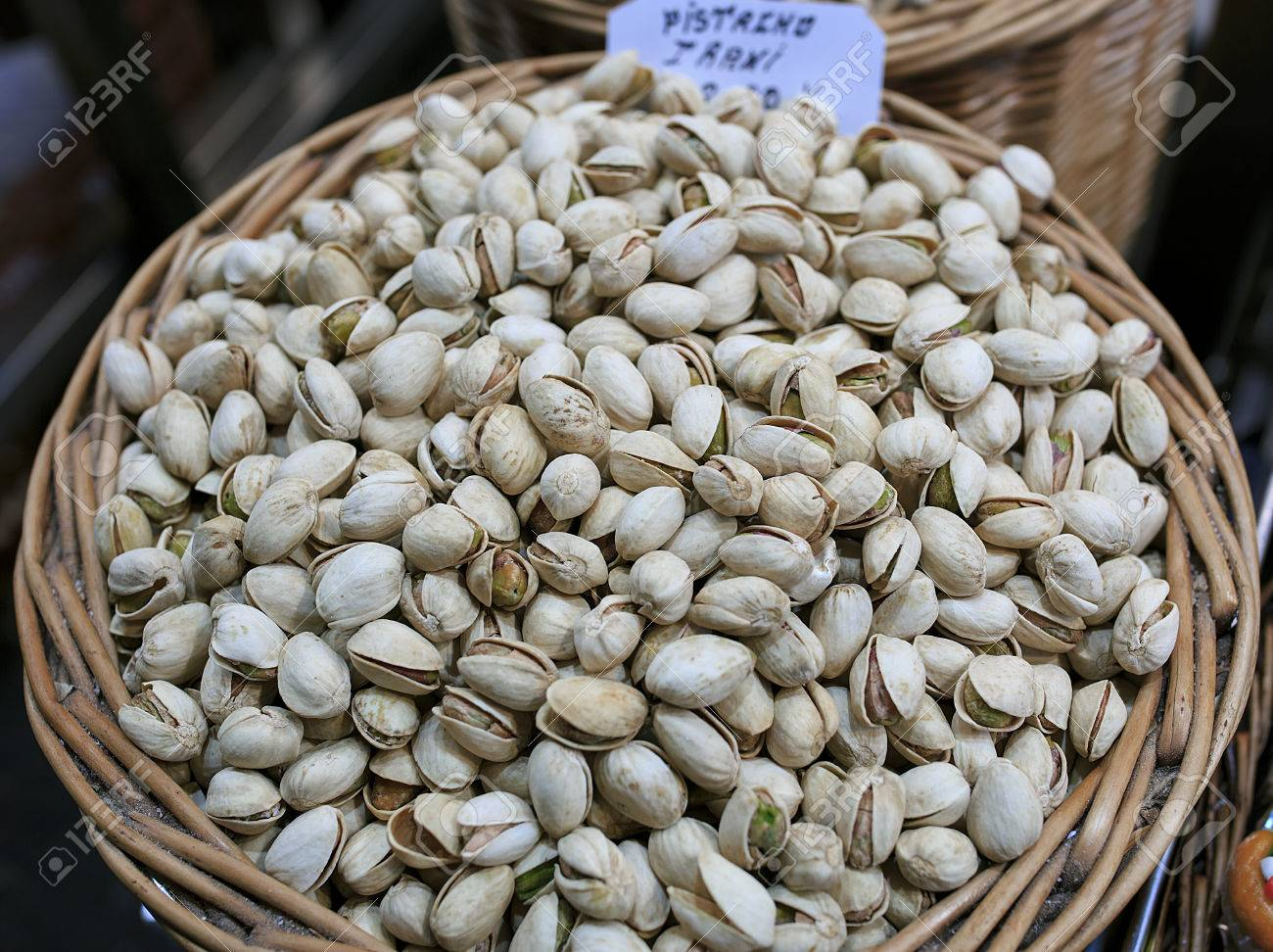 Pistaches in a market of Barcelona - 83771850