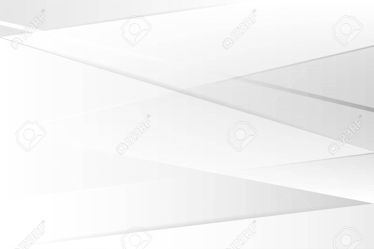 Abstract white and gray gradient color. Modern background design vector Illustration. Geometrical design. - 145673044