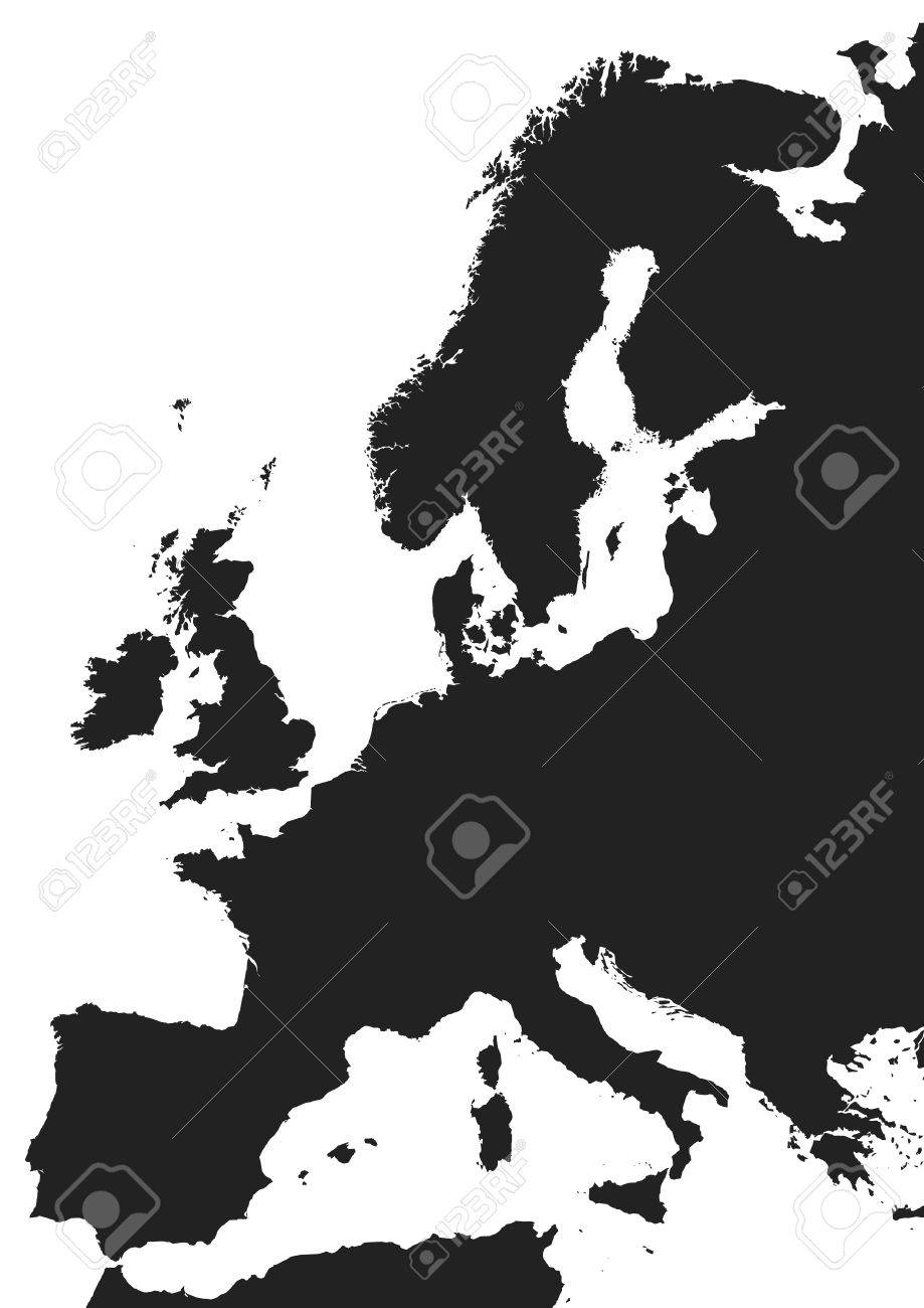 Picture of: Vector Europe Map In Black Over A White Background Royalty Free Cliparts Vectors And Stock Illustration Image 16975908